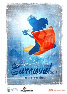 Cartel del Carnaval de Las Palmas 2015. Autor: Jorge Leal. Tema: El Carnaval de Las mil y una noches
