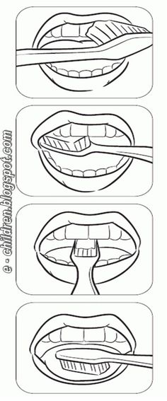FREE PRINTABLE step-by-steo visual for brushing your teeth