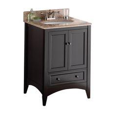 Foremost Berkshire 24-in. Single Bathroom Vanity - Espresso | from hayneedle.com