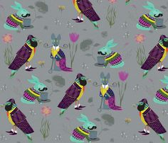 Perfect Gentlemen fabric by sandeehjorth on Spoonflower - custom fabric