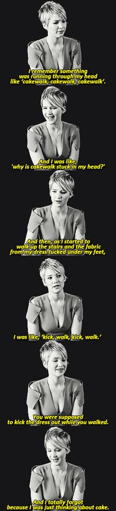 Jennifer Lawrence talks about her fall at the Oscars #funny