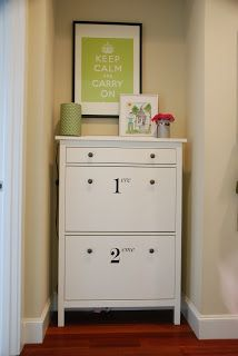 Ikea hemnes schrank spiegel  One Room Challenge Week 3 - Painted Shoe Cabinet & Seating Update ...