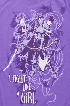 J!NX : World of Warcraft I fight Like a Girl Women's Tee - Clothing Inspired by Video Games & Geek Culture