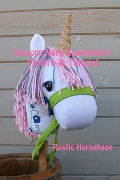 SALE! 50% off Unicorn Horn Supplement Pattern and Tutorial ONLY Stick Horse/Pony Pattern Sold Seperately