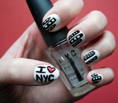 As a freelance photographer, Ciara Greer has her sights on the big city. Her nails match her ambition and dreams of being in the Big Apple. As creative as her nail art is, I'm sure she won't have any issues of living out her big city dreams.