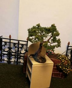 Miniature bonsai by fortislandminiatures on Etsy