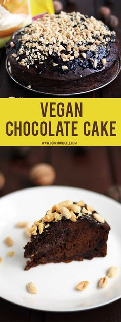 This is the easiest vegan chocolate cake you will ever make! It's pretty much mix & bake and has a decadent, rich, chocolate texture you'll love! http://gourmandelle.com/vegan-chocolate-cake/