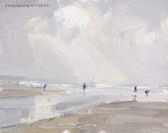 """ROOS SCHURING: Seascape spring 4 """"Afternoon walk"""""""