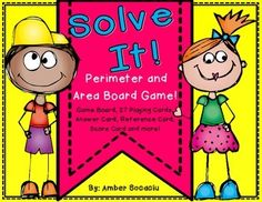 Solve It! is an easy to assemble, measurement board game. Students will play to solve perimeter and area problems. This game includes one game board, an instructions page, a score card (for students to keep track of their points), a reference poster, a recording sheet, and an answer key, and 27 playing cards.