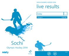 Sochi Olympic Hockey for Windows Phone 8 devices   Have become available for the Sochi Olympic Hockey application that makes available the results of the latest results of the Winter Olympics ice hockey for Windows Phone 8 devices - 1.1.1.0.