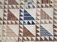 ANTIQUE Signed Dated 1851 Sawtooth Flying Geese QUILT Rachel C. Smith
