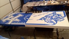 Foldable University of Kentucky Custom Beer Pong table with cooler. Check out www.facebook.com/fishscustoms for more information.