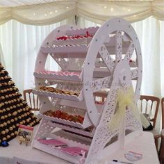 Big Kids Candy Buffet - Candy Cart/Ferris Wheel etc Candy Table, Candy Buffet, Bar A Bonbon, Birthday Table Decorations, Garden Bridal Showers, Garden Shower, Candy Cart, Adult Birthday Party, Birthday Ideas