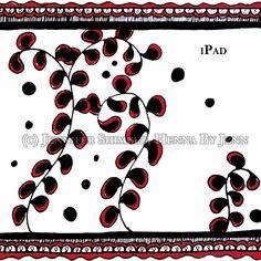 Digital Wallpaper Vines CUSTOM size Ipad Iphone by hennabyjenn, $3.00