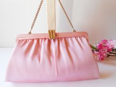 Vintage After Five Pink Evening bag by LittleBitsofGlamour on Etsy