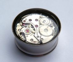 Clockwork Steampunk Vintage Watch Movement Ear Plugs by Jamlincrow, £16.00  O: my two favourite things!!!