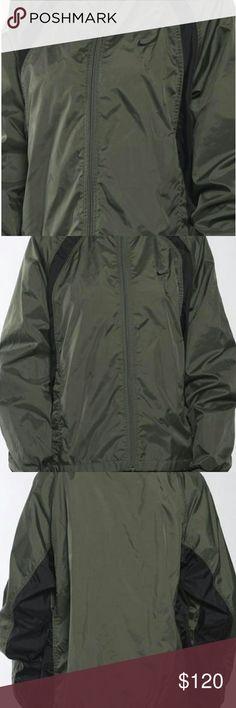 UNISEX 90s Rare Vintage Nike Windbreaker Dark Olive Color With Black Lining, Unisex L or XL Nike Jackets & Coats