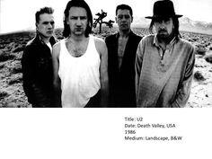 Title: U2<br />Date: Death Valley, USA 1986<br />Medium: Landscape, B&W<br />