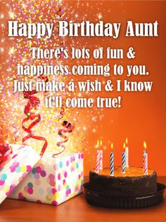 69 Best Birthday Cards For Aunt Images Anniversary Greeting Cards