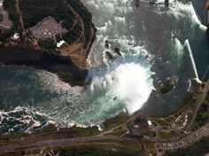 Niagara falls photo from a helicopter ride  - http://earth66.com/aerial/niagara-falls-photo-helicopter-ride/