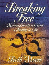 Breaking Free by Beth Moore  paperbackswap.com I've attended a few of Beth Moore's Bible Studies but this one I taught at First Baptist Church in Little Falls, NY.  LOVED it and nearly 40 women attended!  Excellent study!