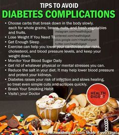 Tips to avoid diabetes complications