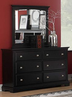 Oleta Country Black Honey Wood Dresser | Dressers And Mirrors ...