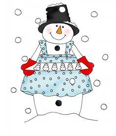 Snowman Cookies color | Dearie Dolls Digi Stamps