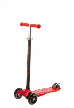 Micro Maxi Kick Scooter - Red with T-bar - http://www.sportingfests.com/micro-maxi-kick-scooter-red-with-t-bar/