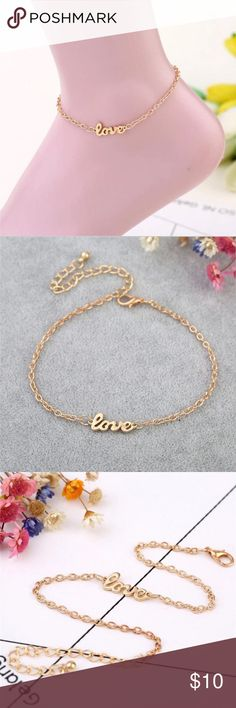Love gold plated anklet Love gold plated anklet Jewelry