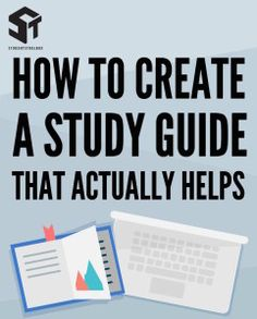 how to create a study guide for students