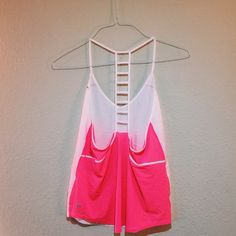 RARE LULULEMON CAGED TANK  Great condition, thin, breathable fabric. Make an offer lululemon athletica Tops