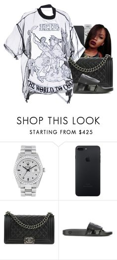 """""""Perfect Pint X Mike Will Made it ft. Rae Sremmurd, Gucci Mane and Kendrick Lamar"""" by shilohluvsu ❤ liked on Polyvore featuring Rolex, Chanel, Versace and KTZ"""