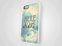 """Iphone 4 Case with song title """" Here comes the Sun""""... my sister would love this!!!! Found on Ebay for $18.99 under 'beatles"""" iphone cases"""