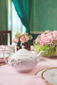 """This beautiful, pristine """"Petal"""" #teapot from Wedgwood is simply charming and emanates a springtime feel with its textured floral details. It's a versatile accoutrement that will work with any color palette you may choose for your next tea. #TeapotTuesday #tea #tealover #healthy #yummy #instagood #instatea #instafood #teacup #food #foodporn #love #teaaddict #coffee #tealovers #greentea #drink #cake #dessert #ilovetea #tealife #teastagram #teaholic #breakfast #foodie #cooking #natural #cafe…"""