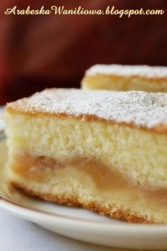 Apple Cake Recipes, Baking Recipes, Dessert Recipes, Polish Desserts, Polish Recipes, Polish Food, Good Food, Yummy Food, Food Cakes