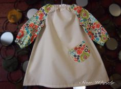 Cream and Flower Peasant Dress by SewWiggly on Etsy, $28.00