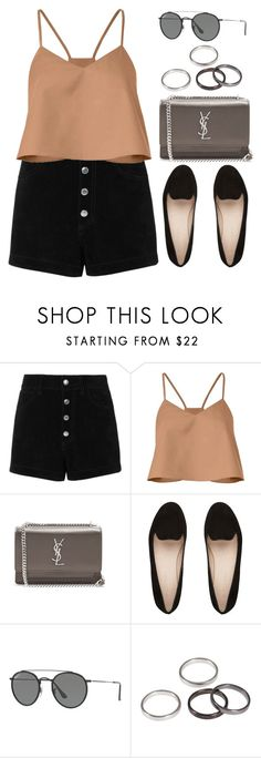 """""""Sin título #12861"""" by vany-alvarado ❤ liked on Polyvore featuring rag & bone/JEAN, TIBI, Yves Saint Laurent and Ray-Ban"""