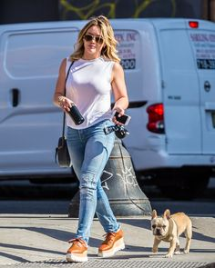 Hilary Duff out in NYC 7/11/16