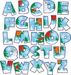 Elements of Creative Xmas Alphabet vector set 04 Alphabet Design, Fonte Alphabet, Hand Lettering Alphabet, Christmas Alphabet, Christmas Fonts, Christmas Printables, Christmas Crafts, Creative Lettering, Alphabet And Numbers
