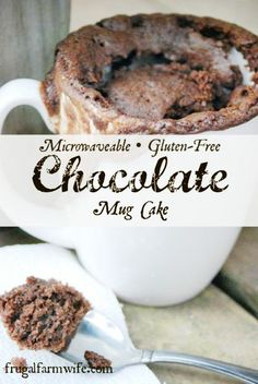 Gluten Free Chocolate Mug Cake. The perfect two-minute chocolate fix!