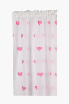 This sheer curtain is beautifully designed with sequins and embroidered heart detail. It can be paired with a plain or printed lined curtain for maximum de