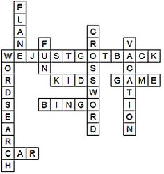 free printable games/puzzles for traveling with kids