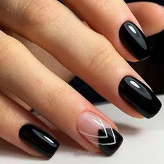 36 Perfect and Outstanding Nail Designs for Winter dark color nails; nude and sparkle nails; Dark Color Nails, Black Nails, Nail Colors, Black Nail Art, Matte Black, Black French Nails, Manicure Colors, White Nail, Sparkle Nails