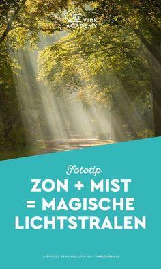 Voor het fotograferen van lichtstralen (zonneharpen) heb je een paar ingredienten nodig. Zon + Mist = lichtstralen! Lees hoe je lichtstralen het beste fotografeert. Fotografietips, fototips, fotografie-inspiratie, natuurfotografie, landschapsfotografie