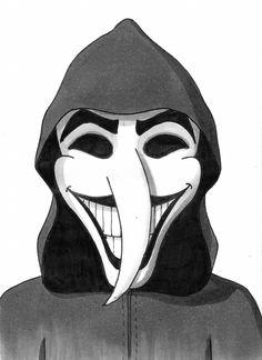 Desenho do Dia #139 - Mascarado - Soraia Casal
