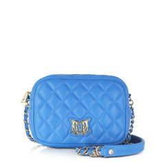 Moschino Sky Blue Quilted Eco Leather Shoulder Bag from Discountpluss for $240.00 on Square Market