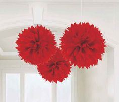 """Red Fluffy Decorations 