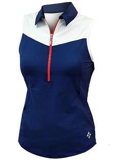 Cosmopolitan (Blue Depth) JoFit Ladies & Plus Size Straight Up Sleeveless Golf Shirt at #lorisgolfshoppe