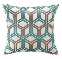 Interlock Pillow - Sea Blue